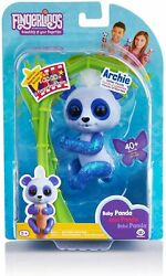 Authentic Wowwee Fingerlings Archie Interactive Toy Pet Blue Baby Panda Games