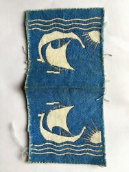 Original Wwii Us-british Troops In Norway Patch 2 - Uncut Twill No Glow
