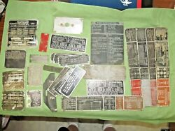 Group Of 24+ Military Vehicle Plates - Metal -transfer Case, Shifter, Winch Etc.