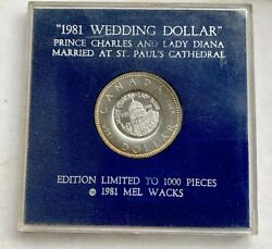 1981 Wedding Dollar Charles And Lady Diana Canada 1964 Countersramped