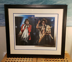 The Rolling Stones/ronnie Wood - Stray Cat Blues Framed/signed Art - 254 Of 290