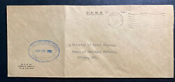 1942 Rupert Canada Ohms Cover To Dept Of National Defense Ottawa