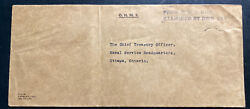 1944 Navy Post Office Canada Ohms Censored Cover To Dept National Defense Ottawa