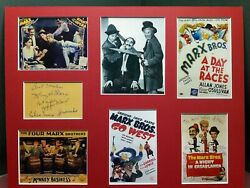Vintage Movie Poster Display - Marx Bros. 2 - Signed All Four