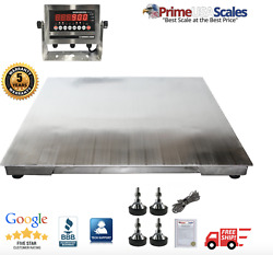 Prime Usa Ntep 3' X 3' Stainless Steel Washdown Floor Scale 5000 Lb X 1lb