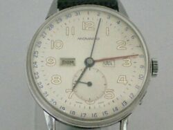 Movado Triple Calendar Cal.473 Vintage Menand039s Watch 1940and039s Manual Winding