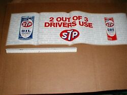 1966 Stp Oil Can Gas Treatment Vtg Old Rare Indy Racing Decal Sticker 24 Sign