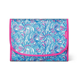 Lilly Pulitzer for Target quot;My Fansquot; Blue Hanging Valet Cosmetic Travel Case NWT $24.95