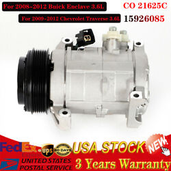 A/c Compressor For 2008-2012 Buick Enclave Gmc Acadia Chevy Traverse Saturn