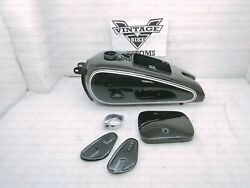 Gas Petrol Fuel Tank For Bmw R71 Black Color With Monza Cap And Knee Pad Plates