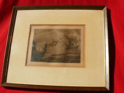 Vintage Original 20 Of 20 Signed Etching Venice Water Scene By Maud Ede