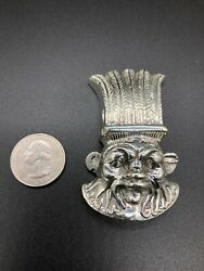 Egyptian Sterling Silver Bes Pendant Solid 184 Grams Very Rare