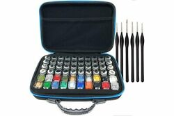 Pixiss Model Paint Storage Case For Testors Paints Holds 60 Bottles With 6...