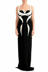 Versace Womenand039s Two Tone Maxi Evening Dress Us L It 44