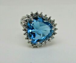 Allison Reed Silver Tone Blue Topaz Ring Size 6.5 O45 1606 06 New