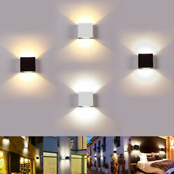 Led Wall Lamp Modern Up Down Sconce Lighting Fixture Cube Light Indoor Outdoor