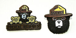 2 Smokey The Bear And Friends Prevent Forest And Wildfires Pin Button Nos New 2000's