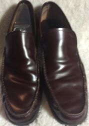 101/2 D Ferragamo Signature Brown Loafers Men