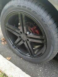 4 Used 19 Black Rims And Goodyear Tires 255/45 R19 - Ford Mustang