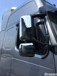 To Fit Volvo Fh Series 2 And 3 Steel Chrome Side Mirror Covers Right Hand Drive