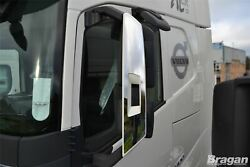 To Fit 2013+ Volvo Fh4 Globetrotter Xl Stainless Steel Chrome Side Mirror Covers