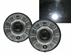 Motorcycles Led Halo Projector Headlight Chrome For Harley Davidson Lhd