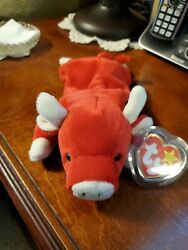 Rareoriginal Snort Beanie Baby One Of The Rarest Red Bullswhat A Rager