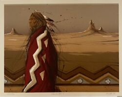 Larry Fodor Lithograph Shadow Of The Earth 10 1983 Hand Signed And Numbered