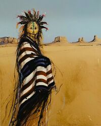 Larry Fodor Lithograph Yei-be-chai 1983 Hand Colored And Signed