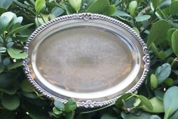 Vintage Old Tray Oval Silver Plate Platter Serving Ornate Oneida N/r