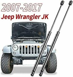 2pcs Front Hood Lift Support Struts Gas Charged Shocks For Jeep Wrangler Jk 07+