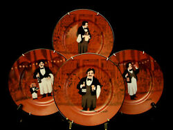Les Garcons Guy Buffet By Williams Sonoma Salad Plate 8 1/4 Set /4 With Hanger
