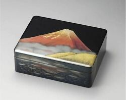 Japanese Antique Lacquered Inkstone Case Traditional Crafts Handmade Made F/s