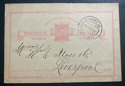 1897 Saint Vincent Cabo Verde Stationery Postcard Cover To Liverpool England