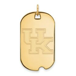 10k Yellow Gold Kentucky Wildcats School Letters Logo Dog Tag Charm Pendant