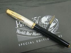 Parker 51 Rollerball Pen Special Edition Empire State Black And Silver New In Box