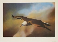 Frank Howell Offset Lithograph Grace Of An Eagle 1982
