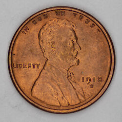 1918 S Lincoln Wheat Cent Penny 1c Choice Bu Brilliant Unc Rb / Rd Red 2517