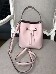 NWT Kate Spade EVA Small Bucket Leather Bag Purse in Rosycheeks $119.00