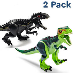 2pcs Indominus Rex XXL Full Size Dinosaur Figure Blocks Fit Toys Green Black $8.99
