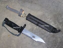 East German Knife Scabbard Wirecutter Sawtooth Blade Military Type 3 Ddr