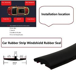 Rubber Seal Trim Prevent Water Leakage Windshield Sunroof Roof Top Window 12fts