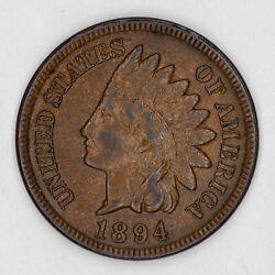 1894 Indian Head Cent Penny 1c Choice Au About Uncirculated 2557