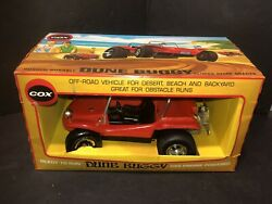 Early Cox .049 Gas Powered Red Dune Buggy With Window Box Vintage Toy 3700