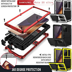 For Samsung Note20 Ultra S20 S21 Shockproof Metal Built-in Screen Protector Case