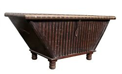Antique Wooden Box Carved Handcrafted Furniture Laving Room Home Decorative