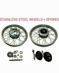 Royal Enfield Complete 19 Front And Rear Wheel Stainless Steel + Spokes S.steel