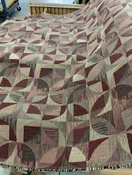 """Quilt Top Looking Tapestry Upholstery Fabric Cabin 54"""" By The Yard"""