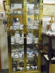 Brass And Glass Display Cabinet Local Pick Up Only