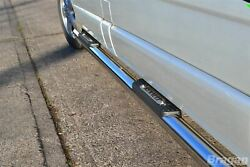To Fit 2002-2014 Renault Trafic Lwb Stainless Tubes Skirts Side Bars + Step Pads